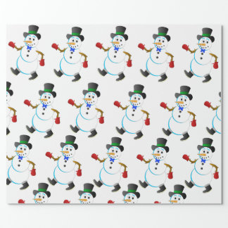 Snowman by Joel Anderson wrapping paper