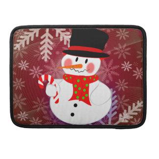 Snowman & Candycane MacBook Pro Sleeve