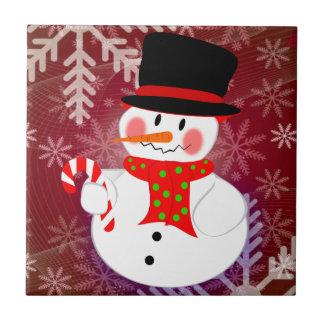 Snowman & Candycane Tile