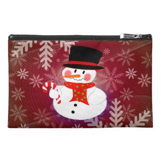 Snowman & Candycane Travel Accessory Bag