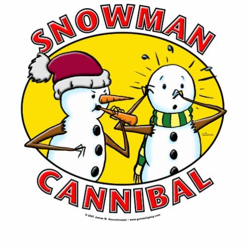Snowman Cannibal Acrylic Cut Out