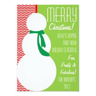 Snowman Card with fun chevron pattern
