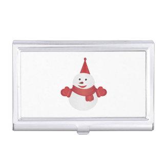 Snowman cartoon business card holder