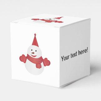 Snowman cartoon favor box