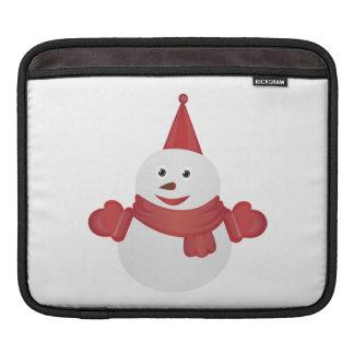 Snowman cartoon iPad sleeves
