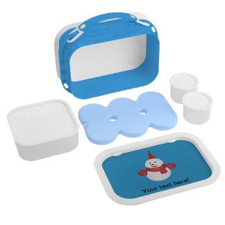 Snowman cartoon lunch box