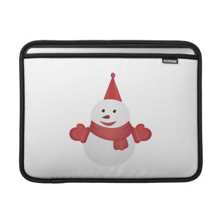 Snowman cartoon MacBook sleeve