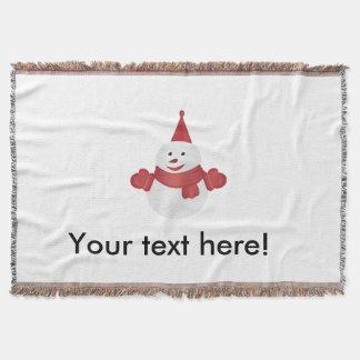 Snowman cartoon throw blanket
