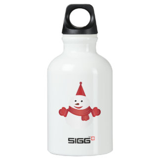 Snowman cartoon water bottle