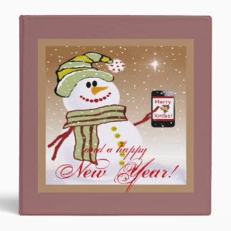 Snowman cellphone binder