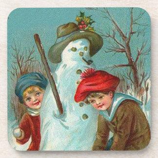 Snowman Children Snow Holly Coaster