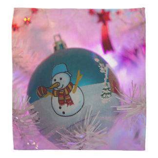 Snowman - christmas balls - merry christmas bandana