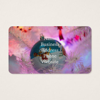 Snowman - christmas balls - merry christmas business card