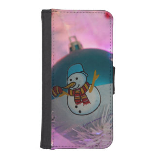 Snowman - christmas balls - merry christmas iPhone SE/5/5s wallet case