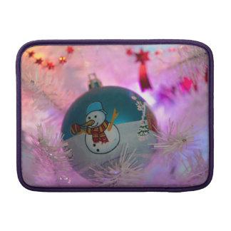 Snowman - christmas balls - merry christmas MacBook sleeve