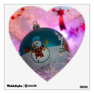 Snowman - christmas balls - merry christmas wall decal
