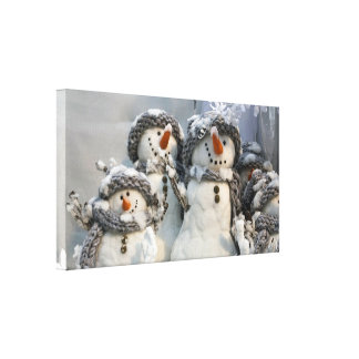 snowman Christmas canvas