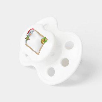 Snowman Christmas Cartoon Sign Baby Pacifier