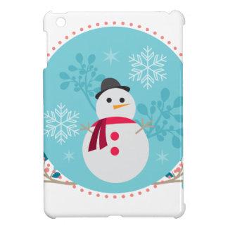 Snowman Christmas Cute Unique Turqoise Blue iPad Mini Covers