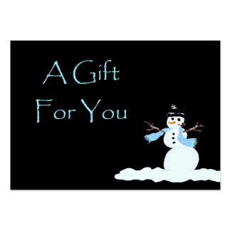Snowman Christmas Gift Card Certificates Large Business Card