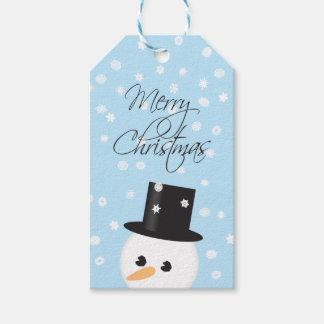 Snowman Christmas Gift Tag