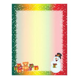 Snowman Christmas Letter Paper Letterhead