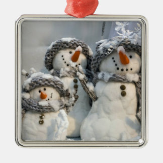 snowman Christmas Metal Ornament