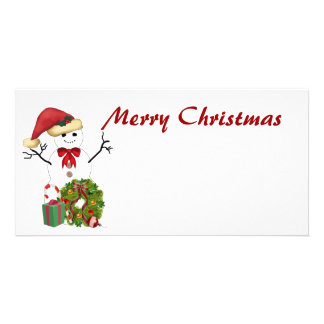 Snowman Christmas Photo Greeting Card