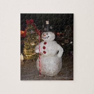 Snowman & Christmas Tree Jigsaw Puzzle