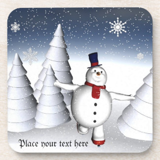 snowman cool skater Coasters