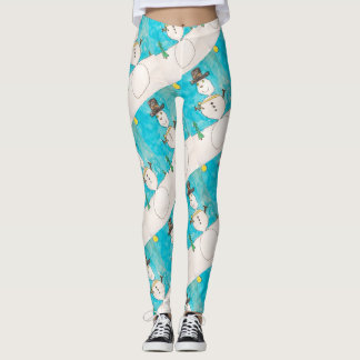 Snowman Crayon Leggings