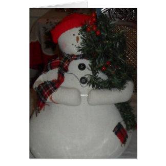 SNOWMAN CUSTOM CHRISTMAS CARD