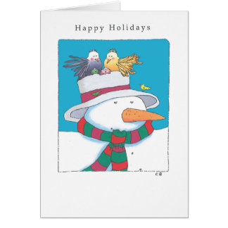 """Snowman"" Custom Christmas Card"