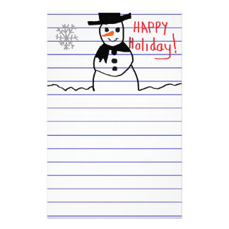 Snowman Custom Stationery