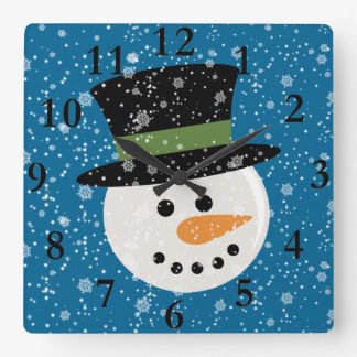 SNOWMAN CUTE FACE CLOCK