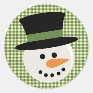 SNOWMAN CUTE FACE STICKERS