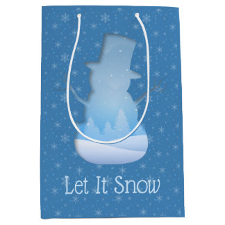 Snowman Cutout Medium Gift Bag