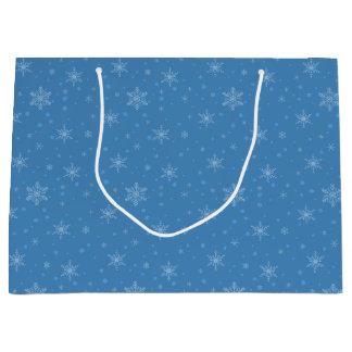 Snowman Cutout Snowflakes Large Gift Bag