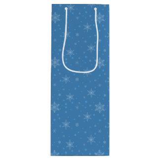 Snowman Cutout Snowflakes Wine Gift Bag