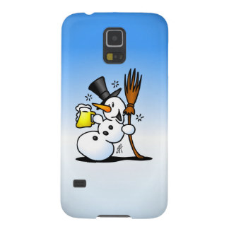 Snowman drinking a beer galaxy s5 cover