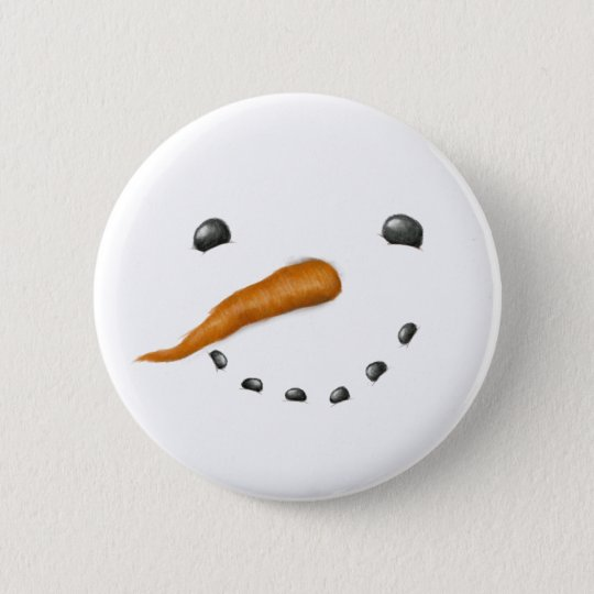 SNOWMAN FACE 2 INCH ROUND BUTTON