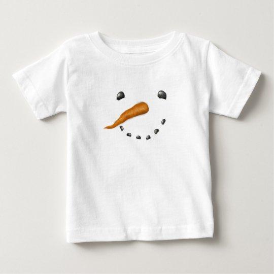 SNOWMAN FACE BABY T-Shirt