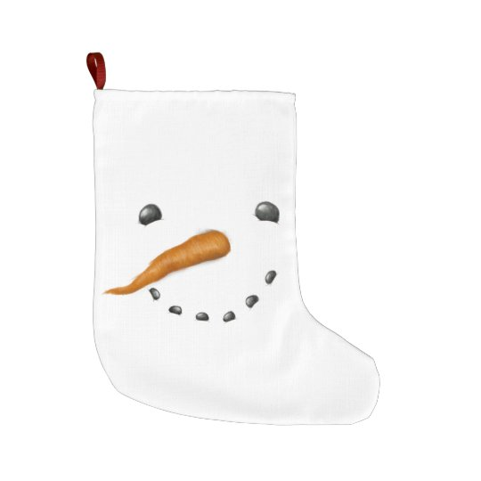 SNOWMAN FACE LARGE CHRISTMAS STOCKING