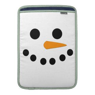 Snowman Face MacBook Sleeve