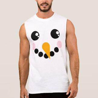 Snowman Face Sleeveless Shirt