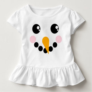 Snowman Face Toddler T-shirt