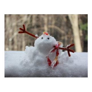 Snowman Fail Postcard