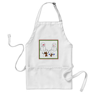 Snowman Family Aprons