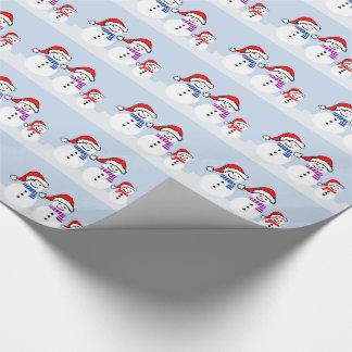 Snowman Family Christmas Gift Wrap