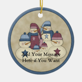 Snowman Family :: Customizable Holiday Ornament